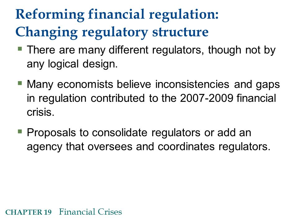 Reforming financial regulation: Changing regulatory structure