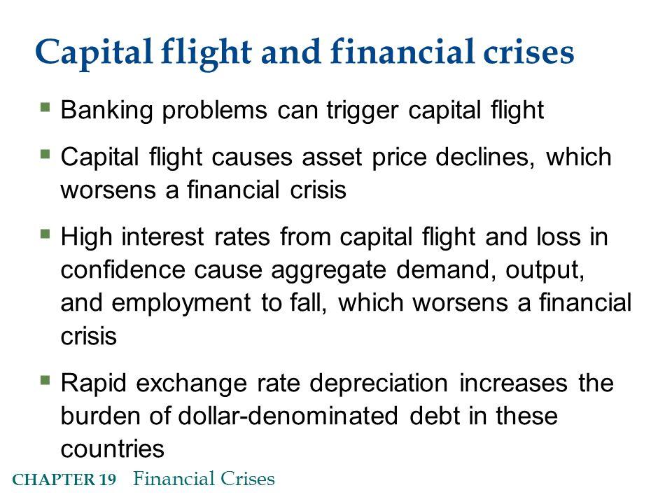 Capital flight and financial crises