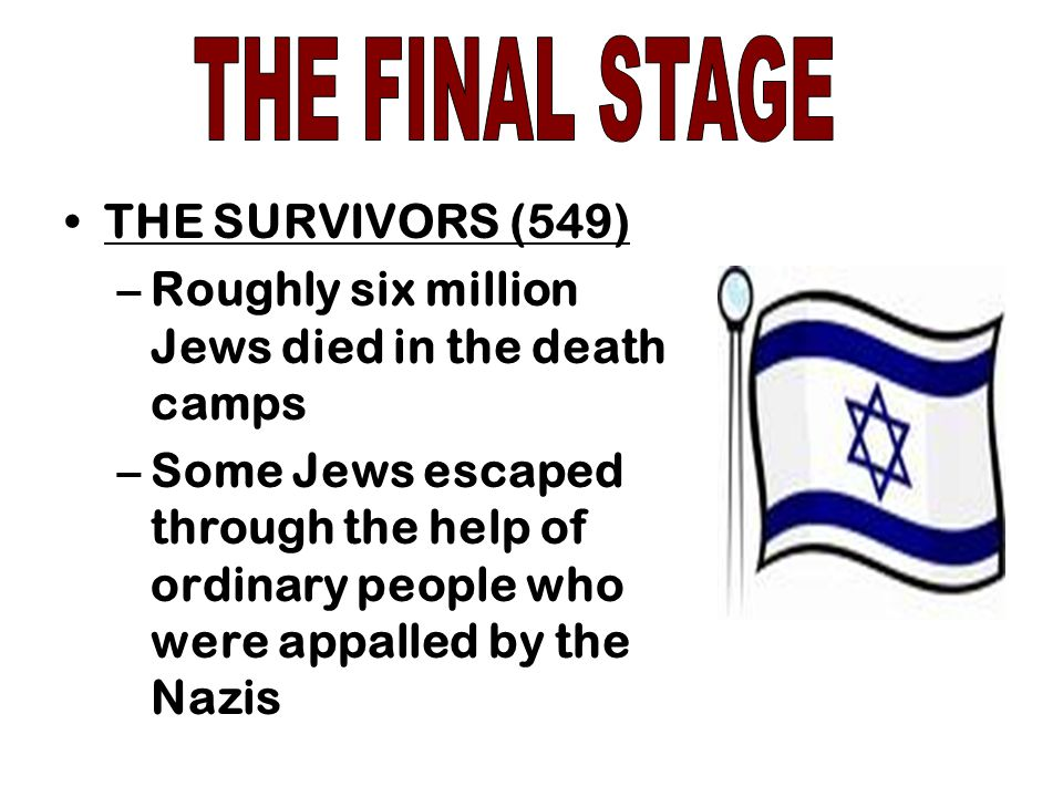 THE FINAL STAGE THE SURVIVORS (549)