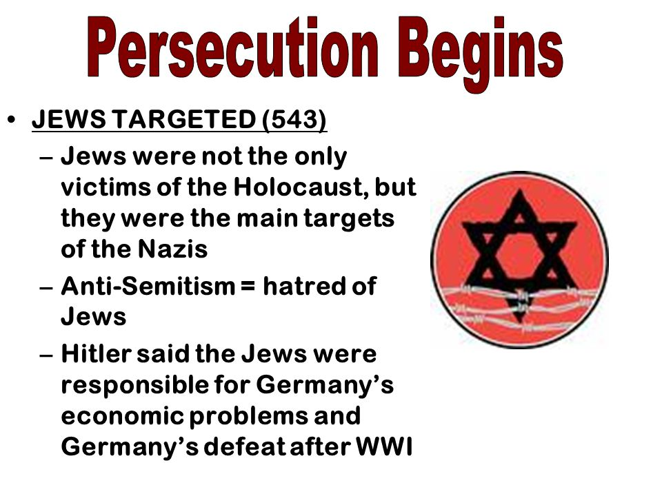 Persecution Begins JEWS TARGETED (543)