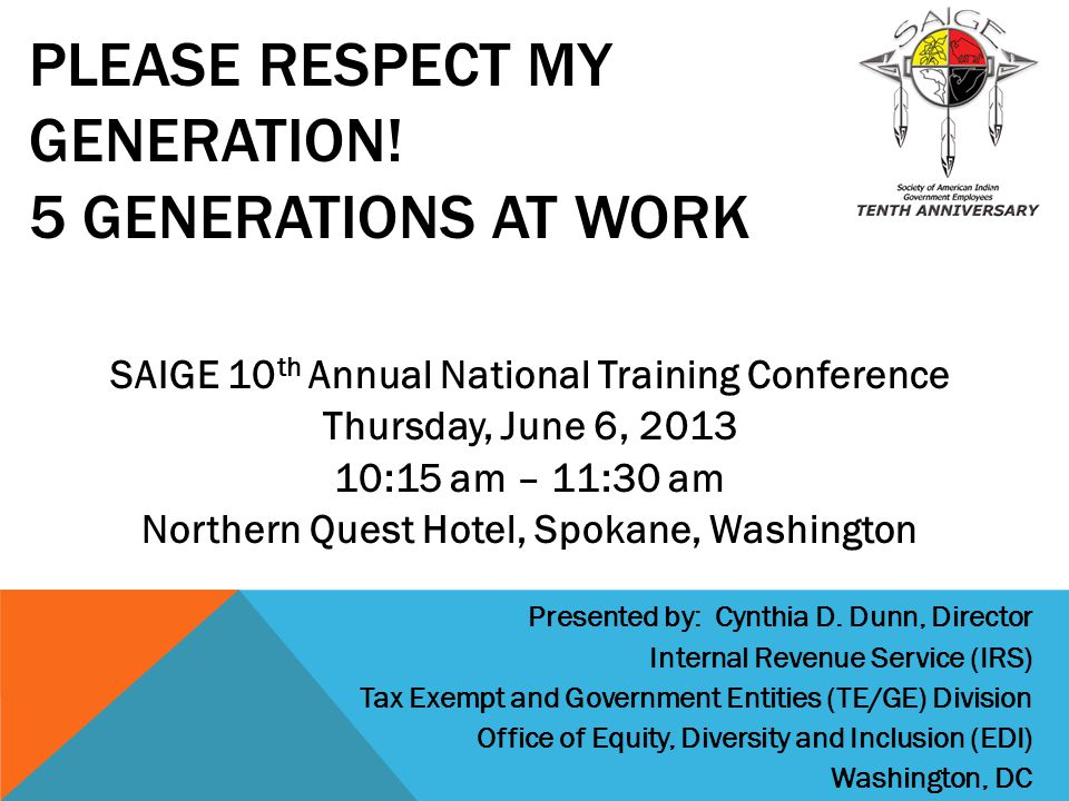 Please Respect My Generation! 5 Generations at work