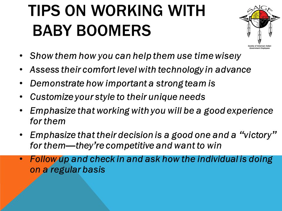 Tips on Working with Baby Boomers
