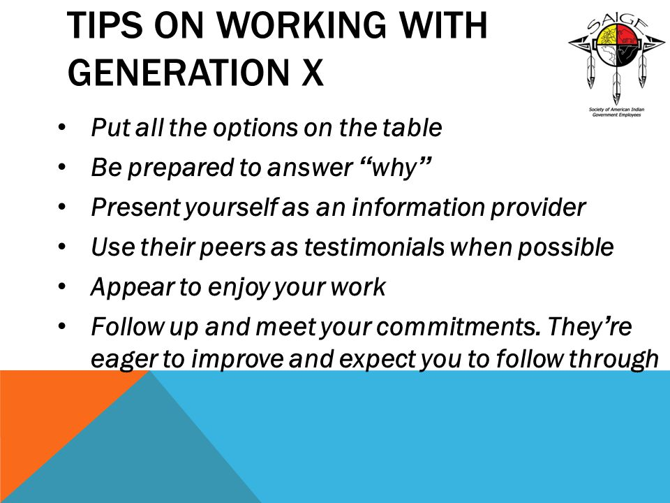Tips on Working with Generation X