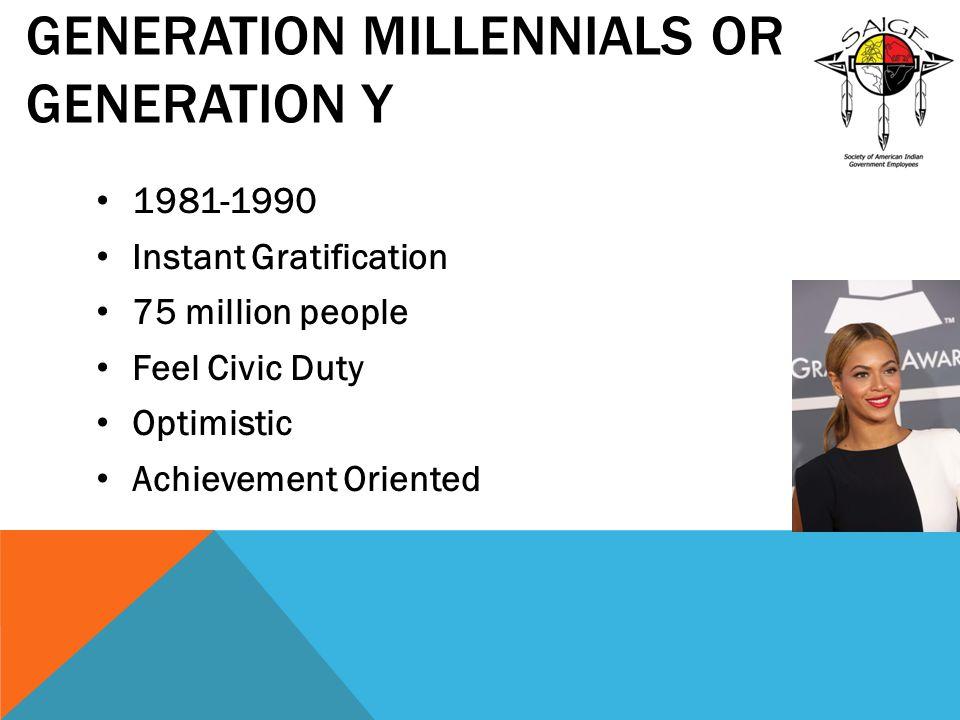 Generation Millennials or Generation Y