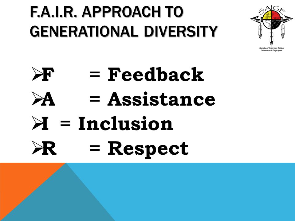 F.A.I.R. Approach to Generational Diversity