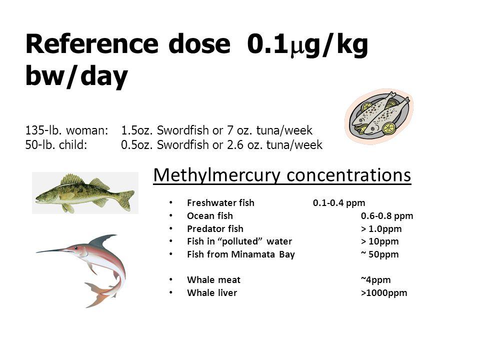 Methylmercury concentrations