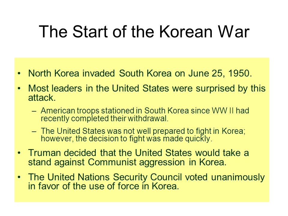 The Start of the Korean War