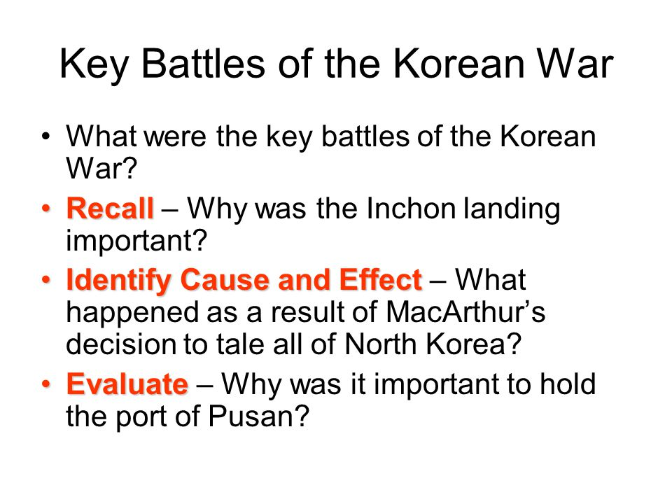 Key Battles of the Korean War