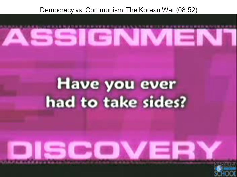 Democracy vs. Communism: The Korean War (08:52)