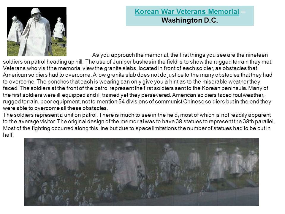 Korean War Veterans Memorial – Washington D.C.