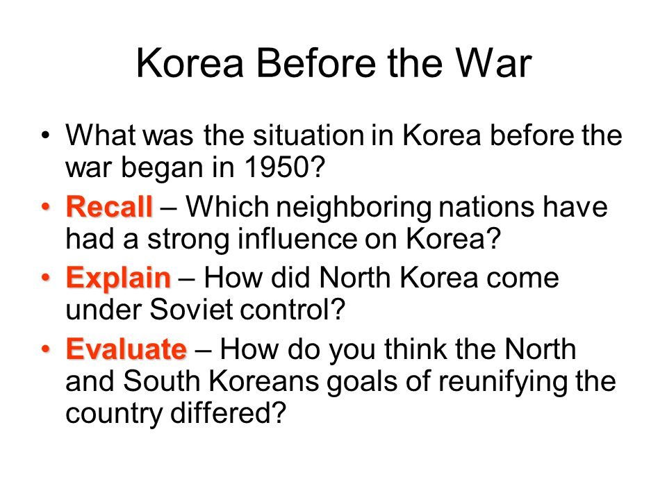 Korea Before the War What was the situation in Korea before the war began in 1950