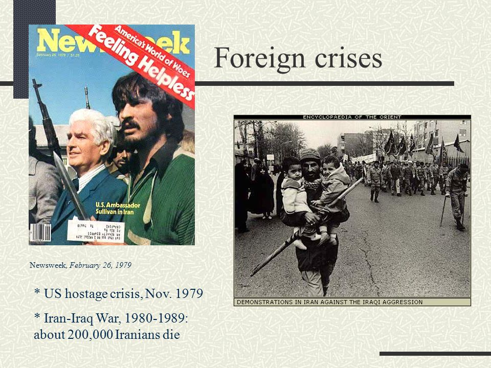Foreign crises * US hostage crisis, Nov. 1979