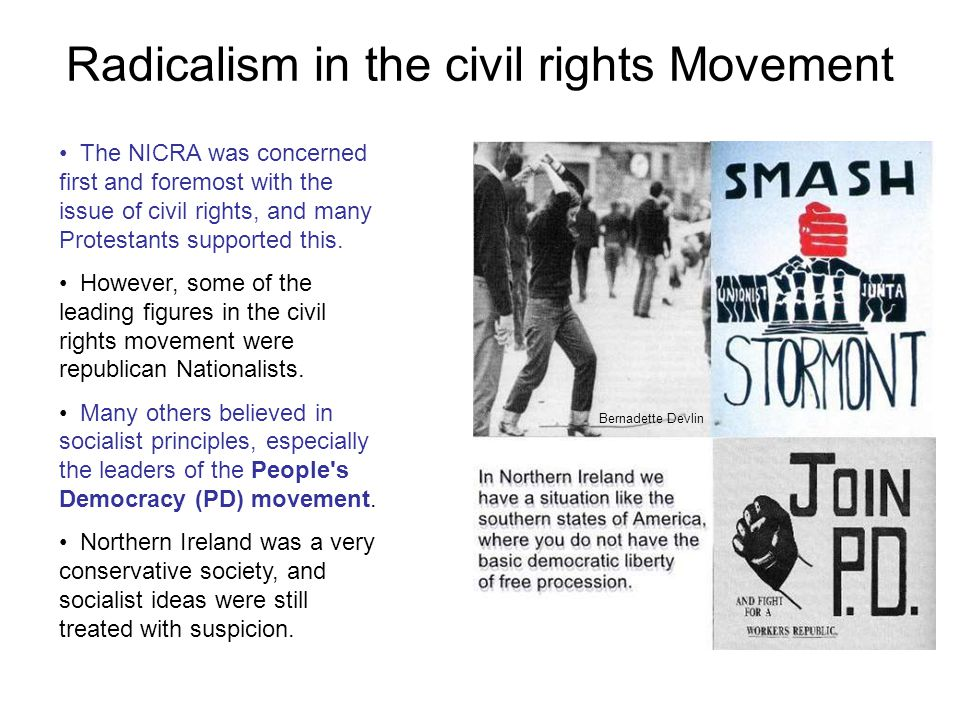 Radicalism in the civil rights Movement