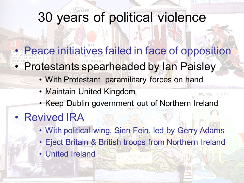 30 years of political violence