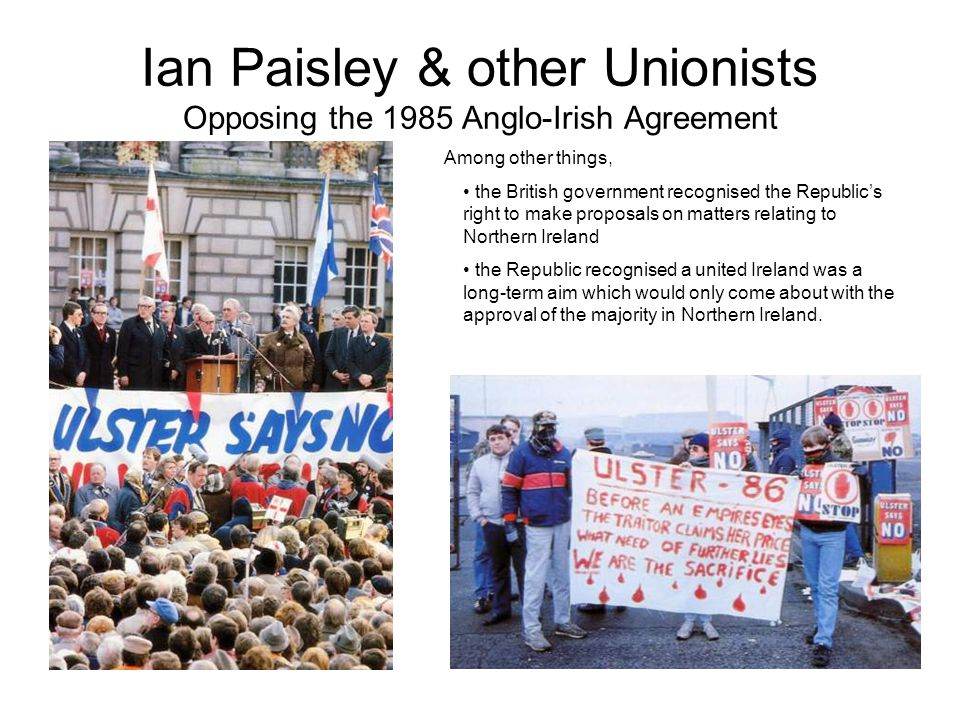 Ian Paisley & other Unionists Opposing the 1985 Anglo-Irish Agreement