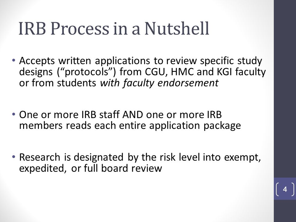 IRB Process in a Nutshell