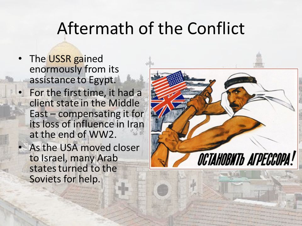Aftermath of the Conflict