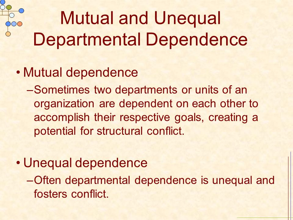 Mutual and Unequal Departmental Dependence