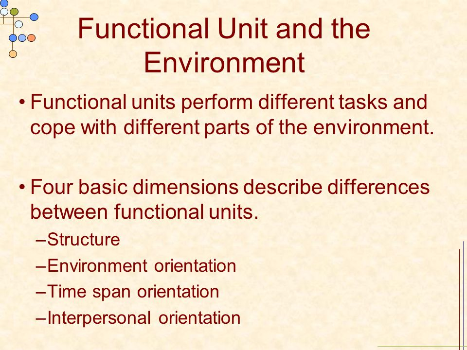 Functional Unit and the Environment