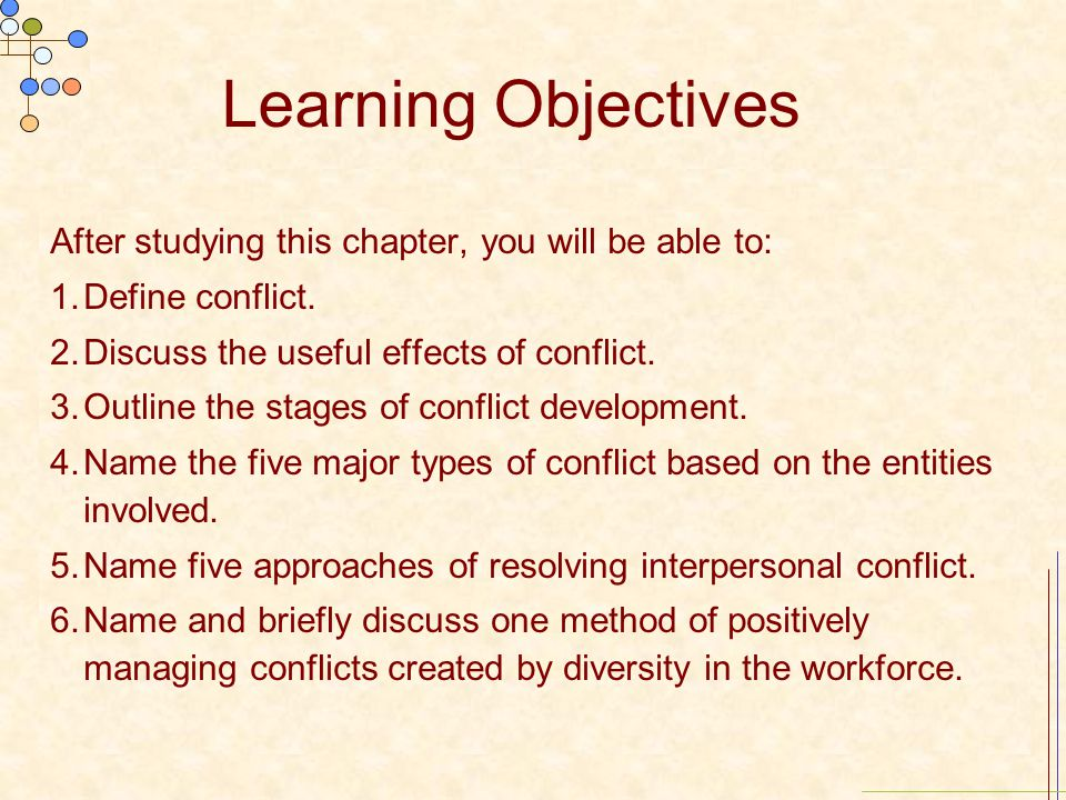 Learning Objectives After studying this chapter, you will be able to: