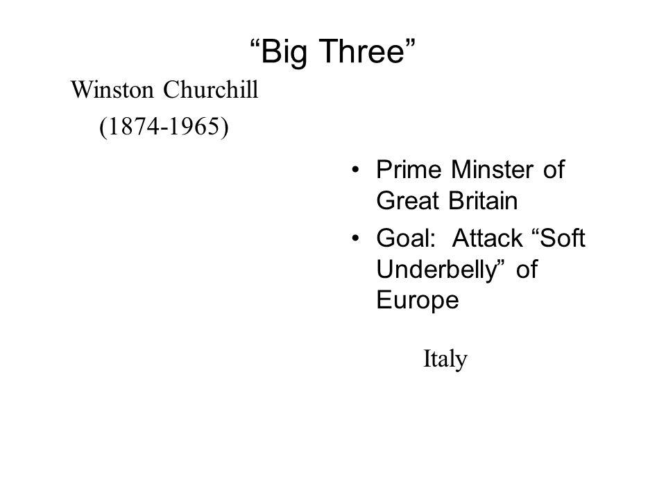 Big Three Winston Churchill (1874-1965)