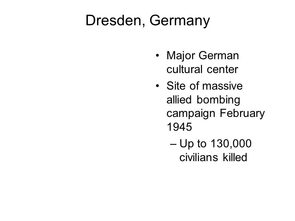 Dresden, Germany Major German cultural center