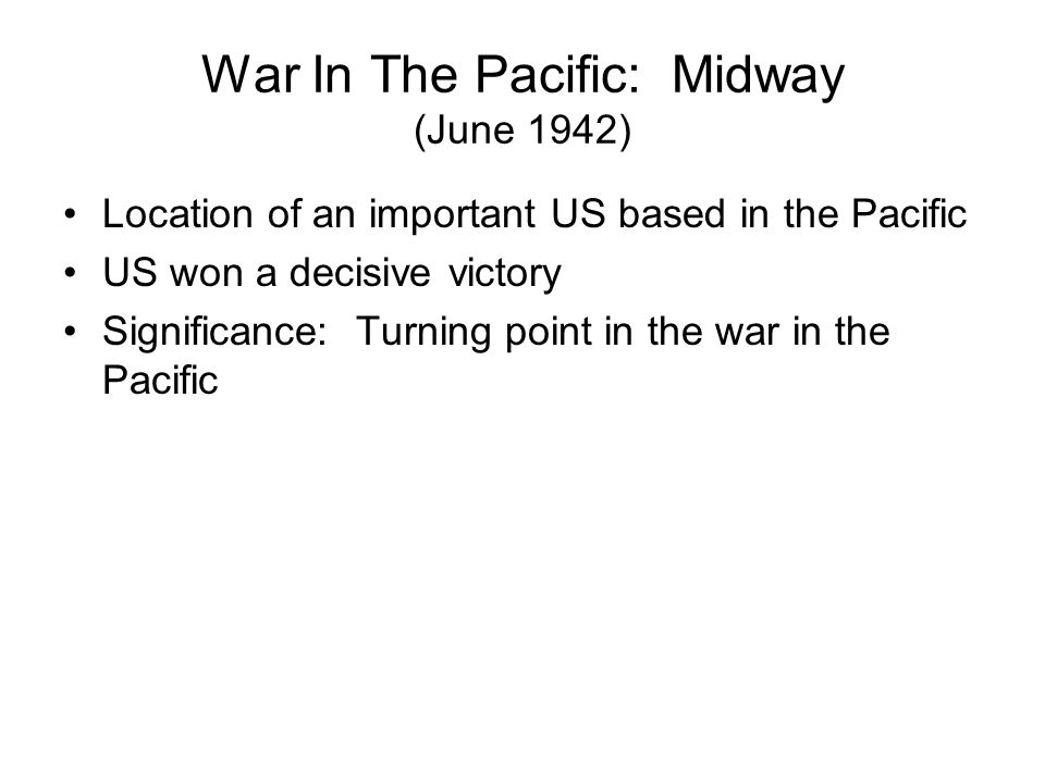 War In The Pacific: Midway (June 1942)