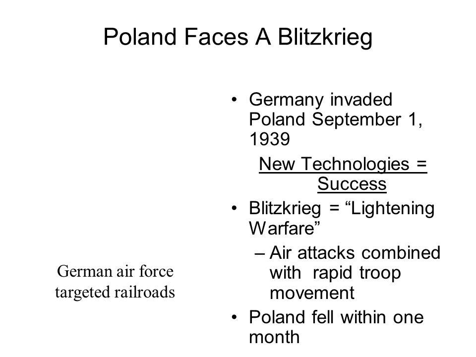 Poland Faces A Blitzkrieg