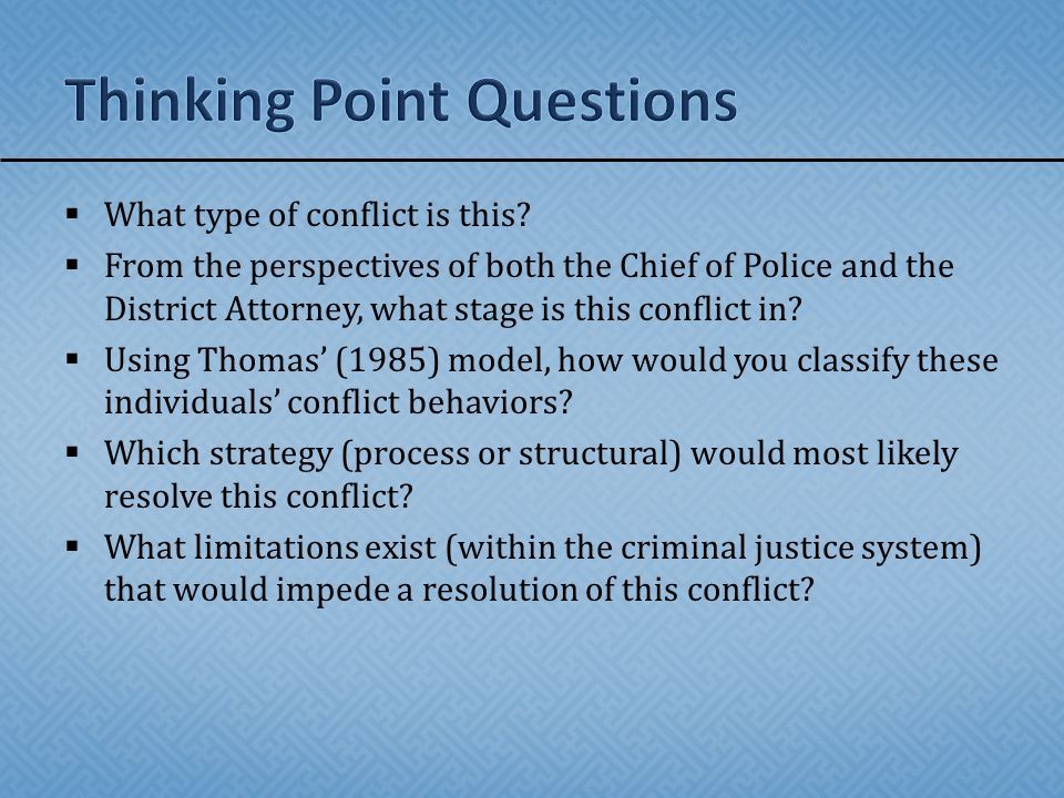 Thinking Point Questions