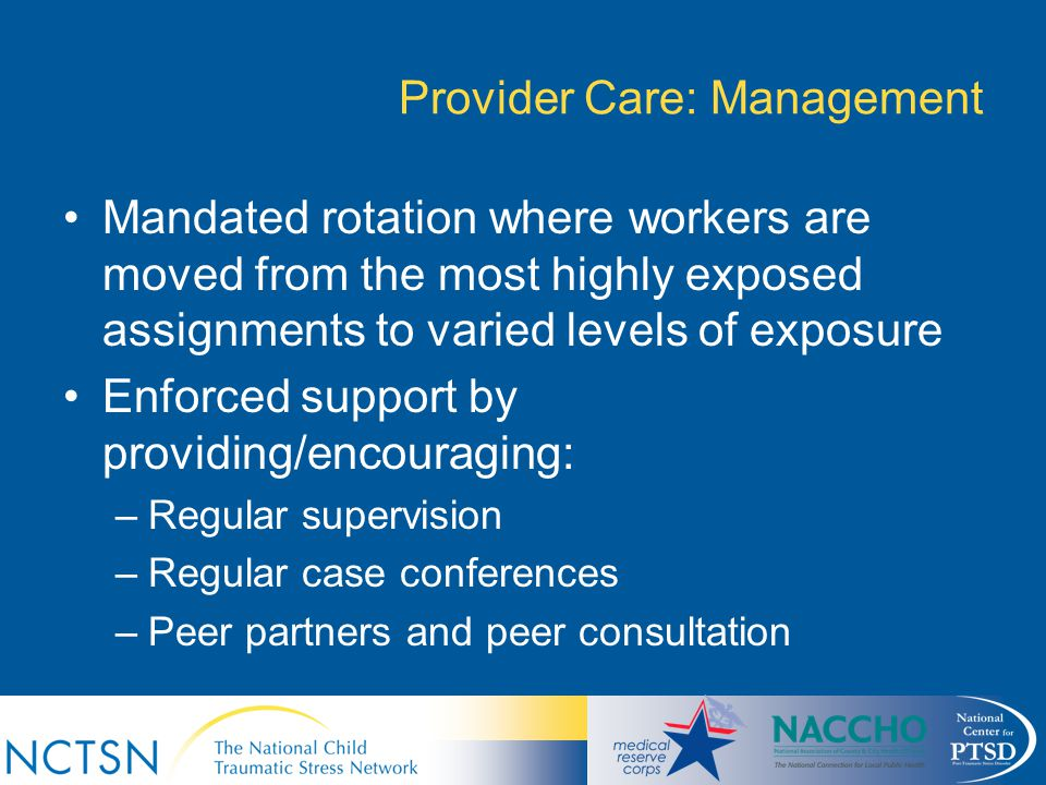 Provider Care: Management