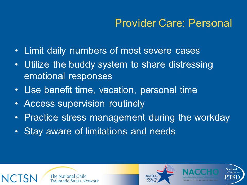 Provider Care: Personal
