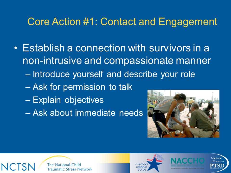 Core Action #1: Contact and Engagement
