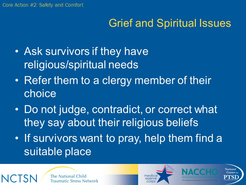 Grief and Spiritual Issues
