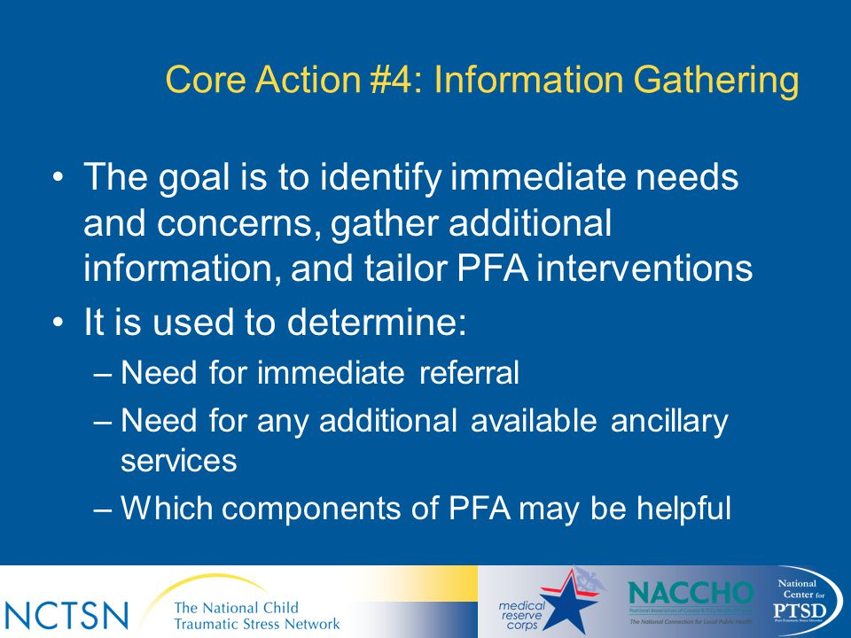 Core Action #4: Information Gathering