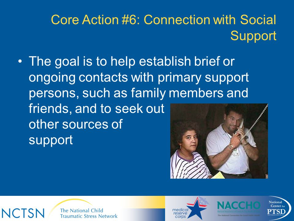 Core Action #6: Connection with Social Support