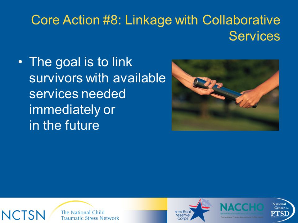 Core Action #8: Linkage with Collaborative Services