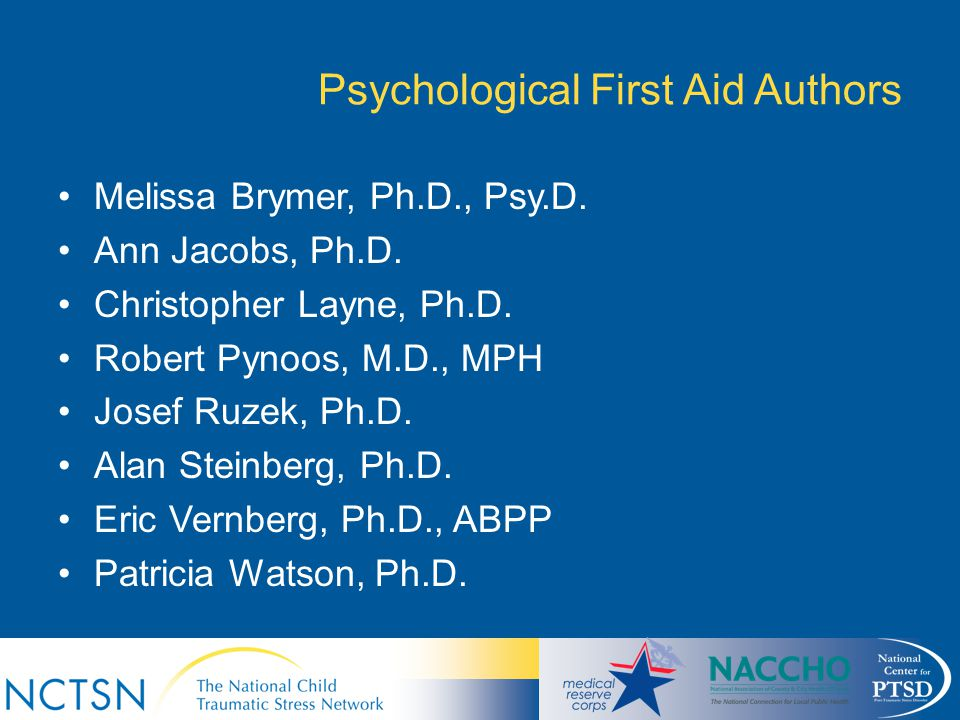 Psychological First Aid Authors