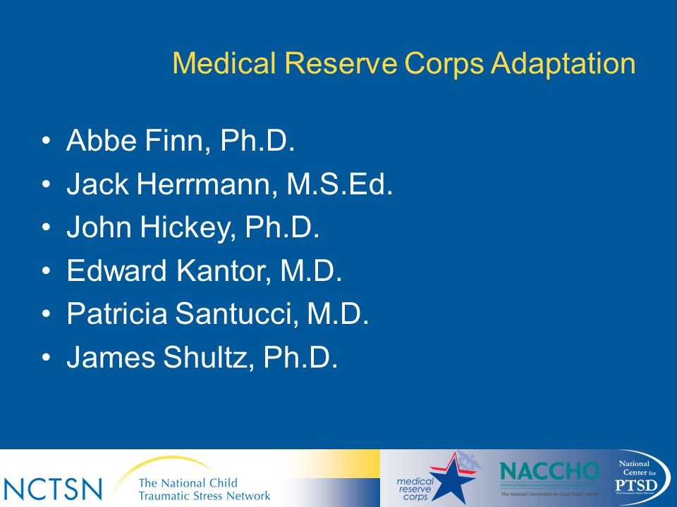 Medical Reserve Corps Adaptation