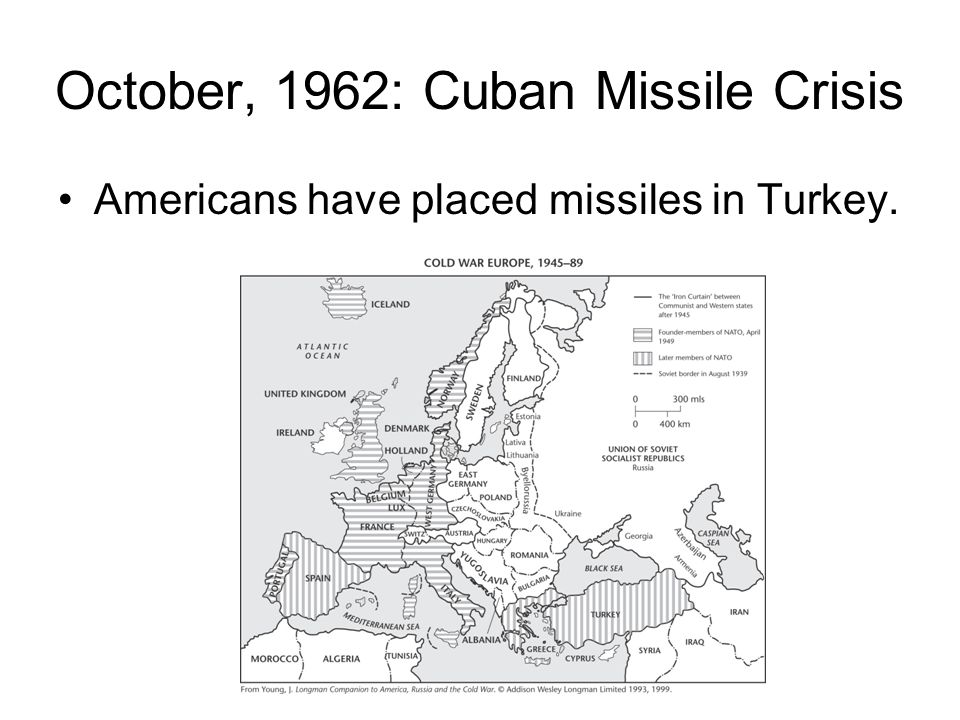 October, 1962: Cuban Missile Crisis