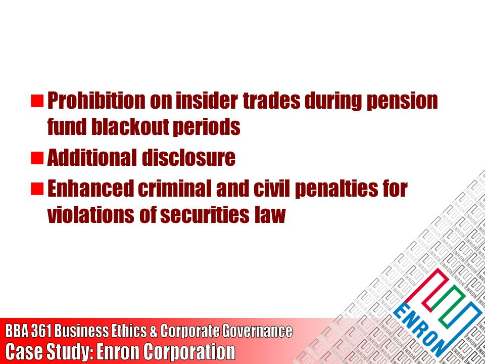 Prohibition on insider trades during pension fund blackout periods