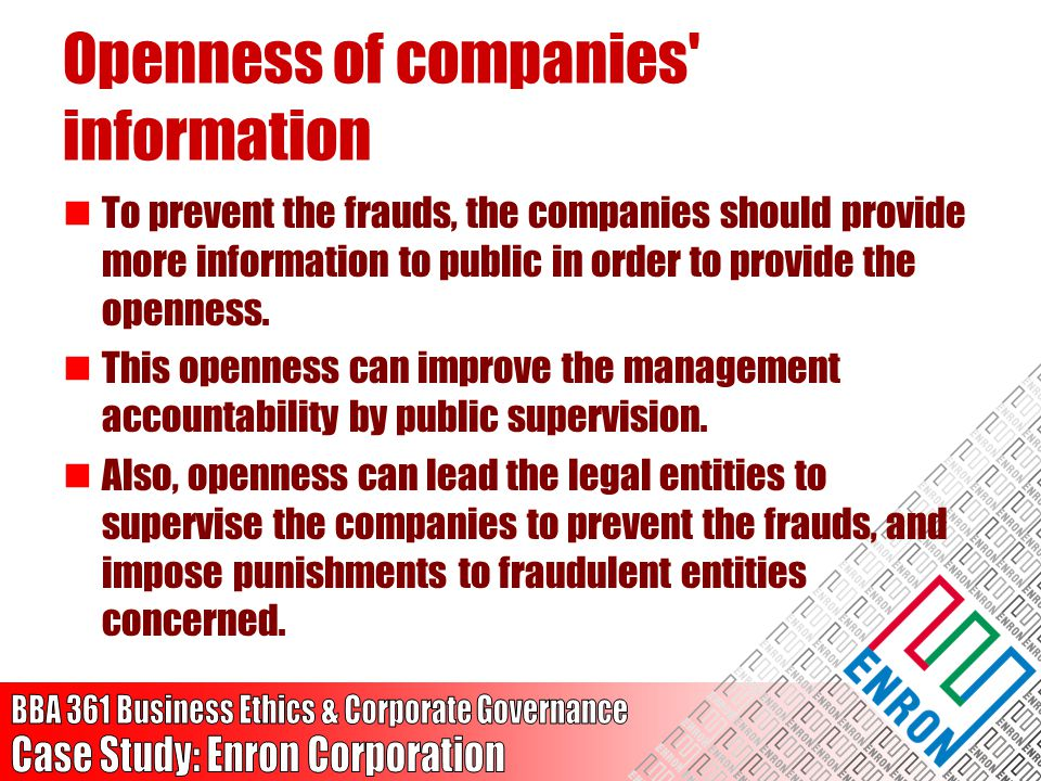 Openness of companies information