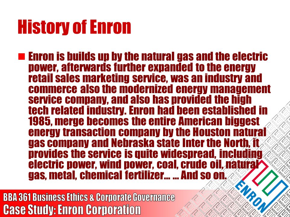 History of Enron