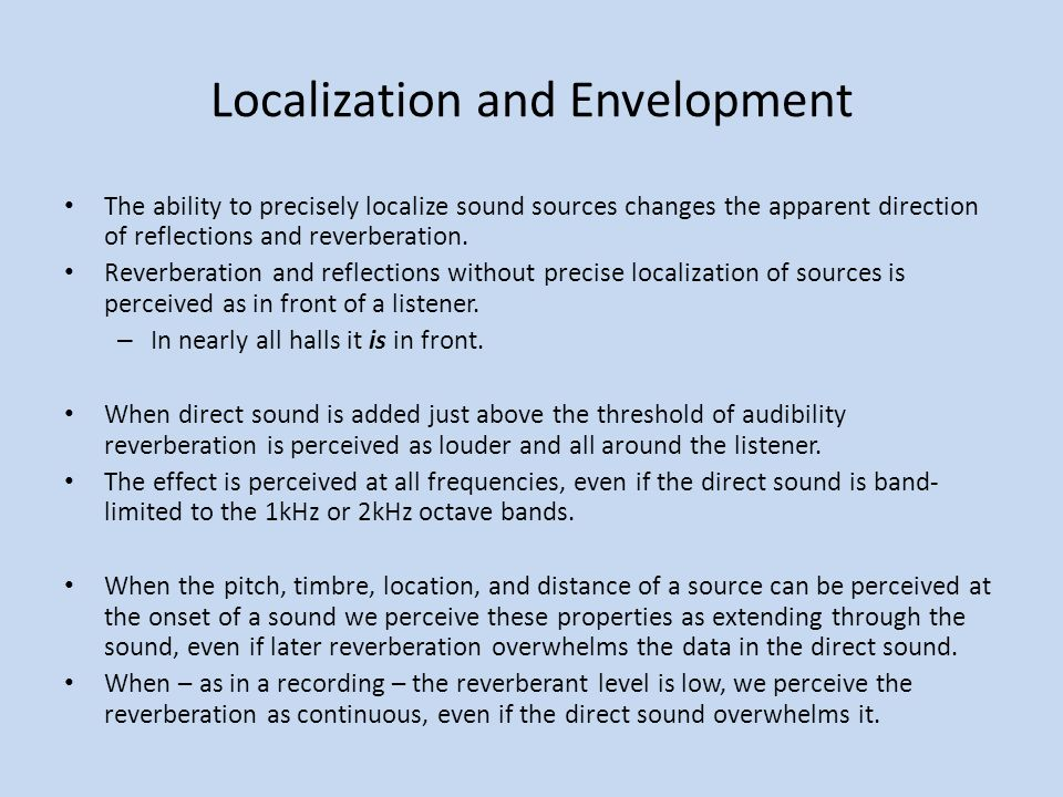 Localization and Envelopment