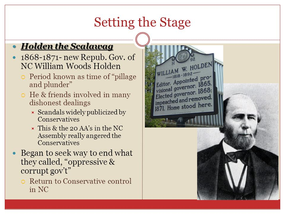 Setting the Stage Holden the Scalawag