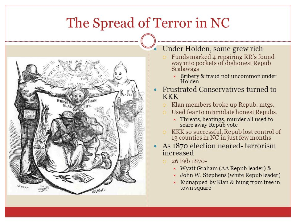 The Spread of Terror in NC