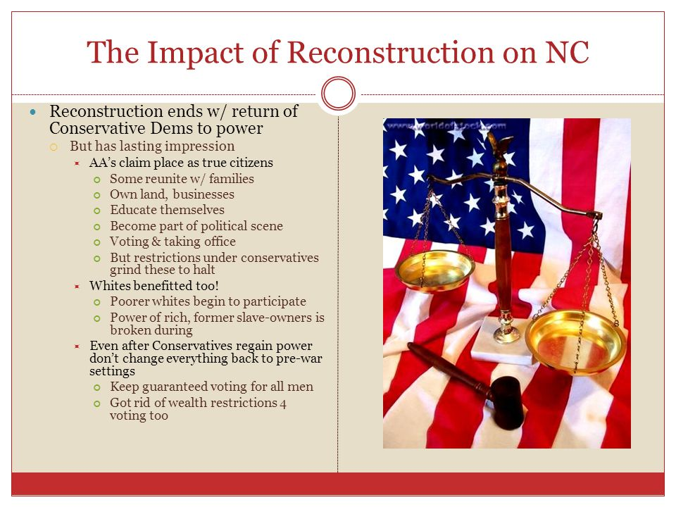 The Impact of Reconstruction on NC