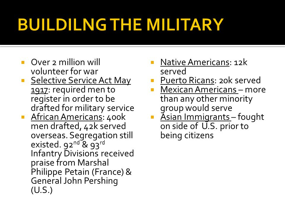 BUILDILNG THE MILITARY