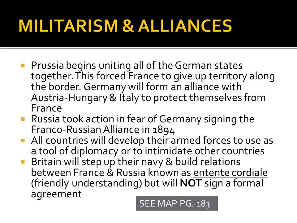 MILITARISM & ALLIANCES