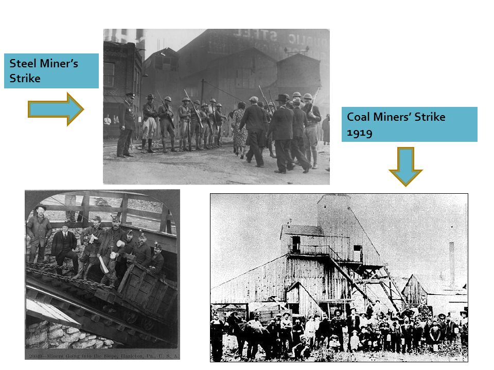 Steel Miner's Strike Coal Miners' Strike 1919