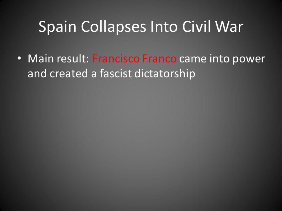 Spain Collapses Into Civil War